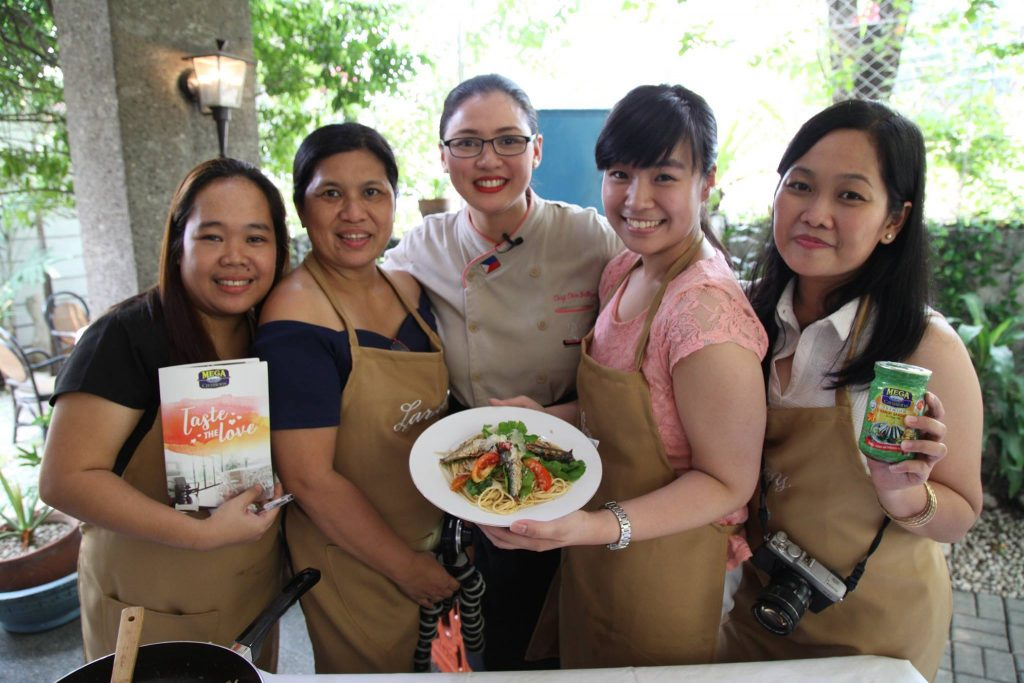 One of the groups who participated in the cook-off with Chef Chin Gallegos-Bagis