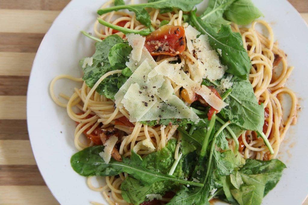 Tomato and Sardines Arugula Pasta
