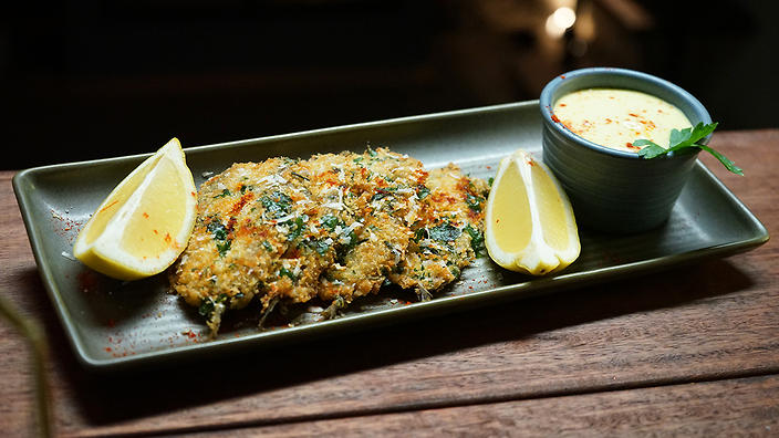 Fried Sardines with Homemade Aioli