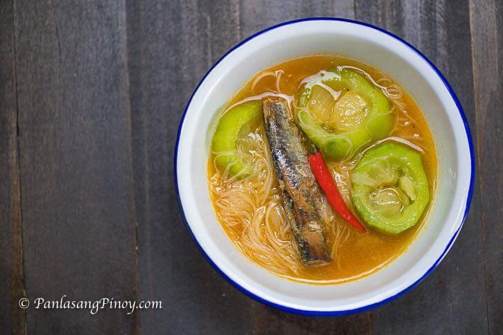 Extra Hot Sardines with Patola and Miswa
