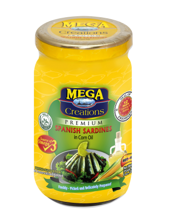 Mega Creations Spanish Sardines in Corn Oil 225g