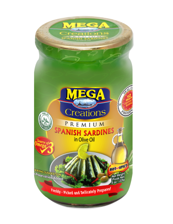 Mega Creations Spanish Sardines in Olive Oil 225g