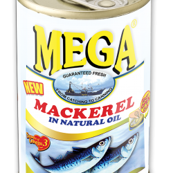 Mega Mackerel in Natural Oil 155g