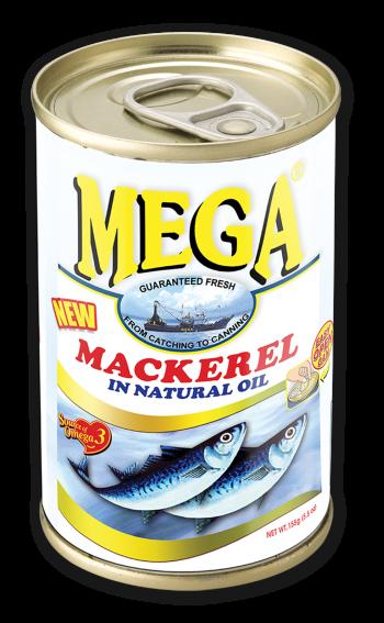 Mega Mackerel in Natural Oil 155g