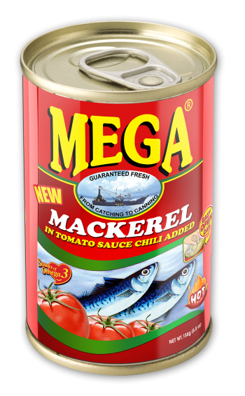 Mega Mackerel in Tomato Sauce with Chili 155g