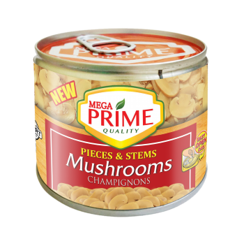 Mega Prime Pieces and Stems Mushrooms 198g