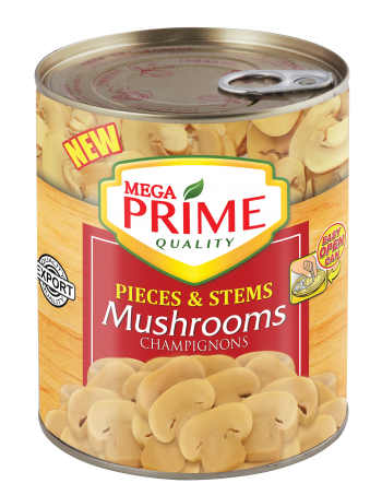 Mega Prime Pieces and Stems Mushrooms 850g