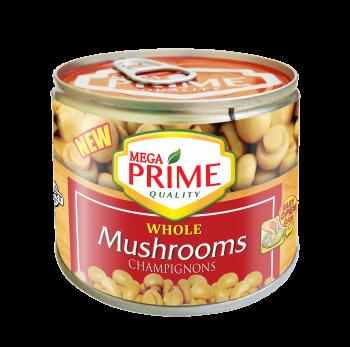 Mega Prime Whole Mushrooms 198g