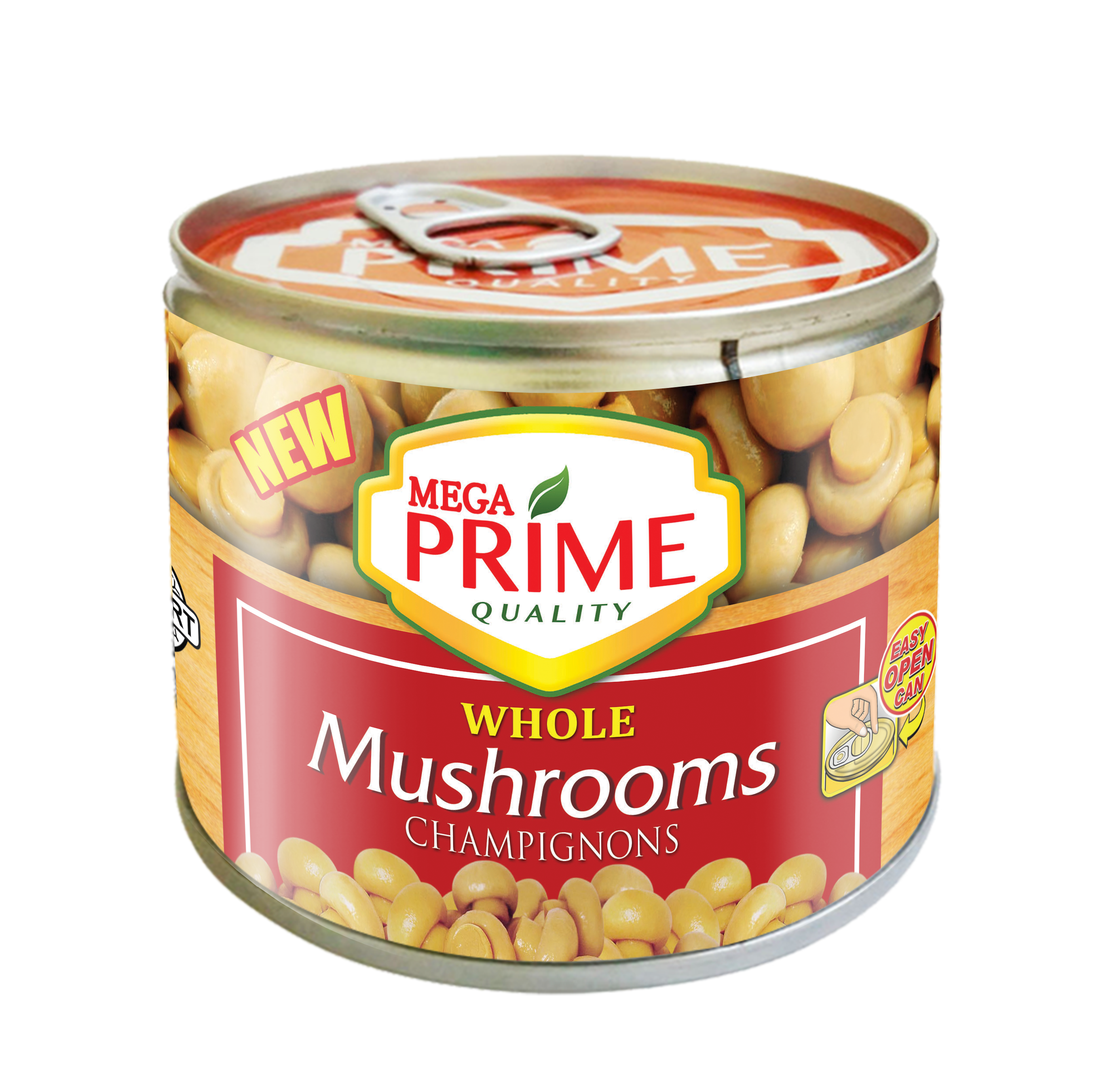 Mega Prime Whole Mushrooms 198g