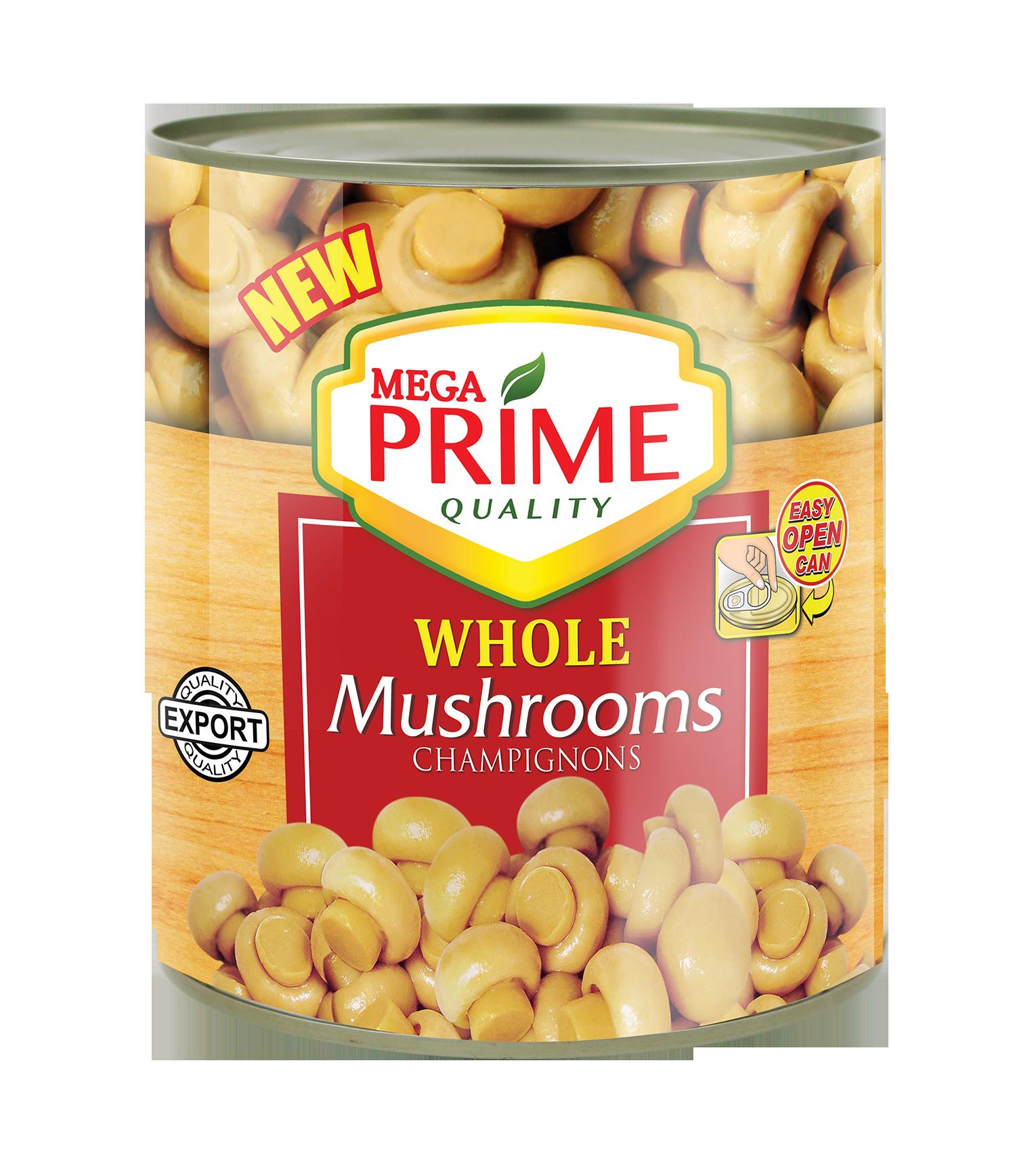 Mega Prime Whole Mushroom 2840g
