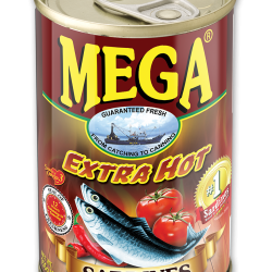 Mega Sardines Extra Hot 155g