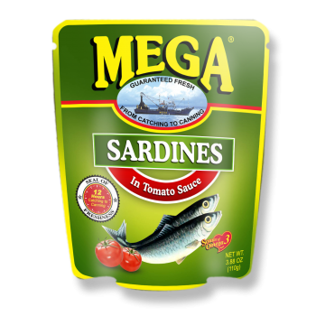 Mega Sardines Tomato Sauce in Pouch 110g