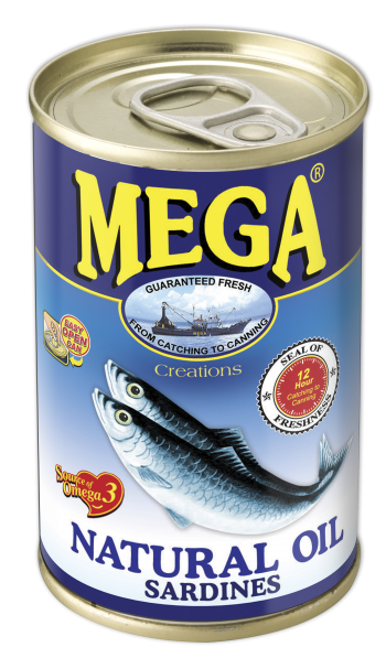 Mega Sardines in Natural Oil 155g