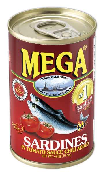 Mega Sardines in Tomato Sauce with Chili 425g