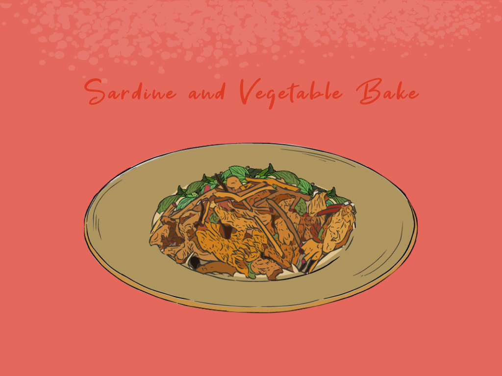 Sardine-and-Vegetable-Bake