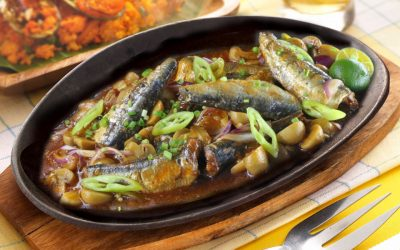 Sizzling Sardines with Mushrooms