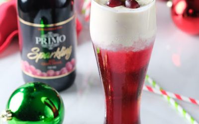 Sparkling Red Grape Cream Cheese Frosty
